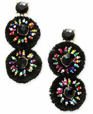 INC International Concepts Gold-Tone Multicolor Bead Fringe Circle Drop Earrings