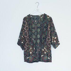 TFNC LONDON Colourful Paisley Print Patterned Lightweight Kimono One Size Boho