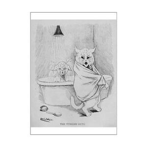 14339566 A1 (84x59cm) Poster of Louis Wain - Turkish Bath