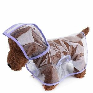 Clear Plastic Raincoat for Dogs - Waterproof Dog Clothes by DogLemi