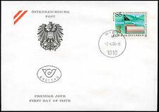 Austria 1986 geotextile Congresso FDC primo giorno Coperchio #C 18967