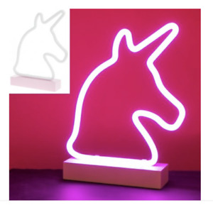 Pink Unicorn Neon Light, Girls Bedroom Lamp, Retro Novelty Style