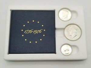 1776 - 1976 US BICENTENNIAL SILVER UNCIRCULATED PROOF SET -  40% SILVER  dn ef