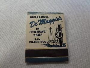 Vintage Joe Dimaggio New York Yankees Matchbook Matches ...No Reserve