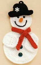 New Gift Holiday Christmas Handmade Crochet Cotton Snowman Wall Décor