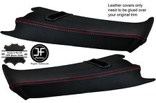 RED STITCH 2X REAR C PILLAR LEATHER COVERS FOR BMW E39 96-03 ESTATE TOURING