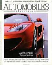 AUTOMOBILES CLASSIQUES n°191 JANVIER 2010 MAC LAREN MP4-12C