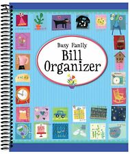 Bill Expense Organizer Spiral Bound Holder Book with Pockets Organize Planner