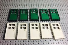Lego X10 New White / Green Doors With 1x4x6 Door Frame Bulk Parts Lot