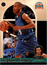 Autographed Single Basketball Trading Cards Stephon Marbury