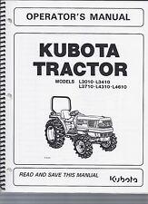 Kubota L3010, L3410, L3710, L4310, L4610 Tractor Operator Manual