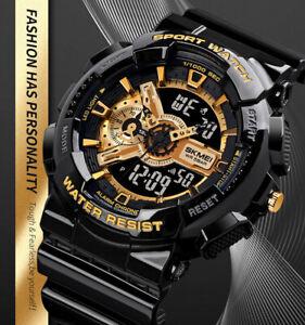 Men Sport Watch Skmei  Military Analog Digital Wrist Watch Shockproof Waterproof