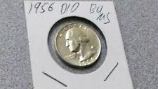 1956 Washington Quarter Silver Error D/D  Excellent Detail Uncirculated