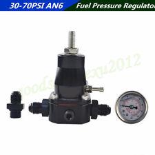 Pressure Adjustable Car CNC Aluminum Fuel Pressure Regulator+Gauge+AN6 Fittings