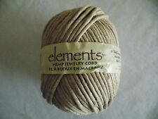 Natural The Beadery Elements Hemp Jewelry Cord Monster (170lb) Monster 64 yds