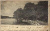 Mystic CT Deans Mills c1905 Postcard