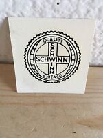 NOS Vintage Early 1960's Schwinn Down Tube Seatpost Water Transfer Decal Chicago
