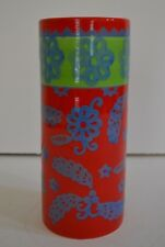 Hallmark Decorative Ceramic Round Vase - Red, Green and Blue - Christmas Colors