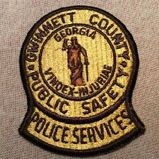 GA Gwinnett County Georgia Public Safety Police Services Patch (3.5In)