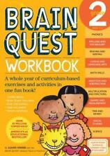 Brain Quest Workbook, Grade 2, Liane Onish, Good Condition, Book