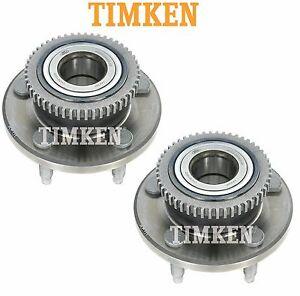 For Avanti Ford Mustang Set of Front Wheel Bearings Hubs Assies Timken HA590017