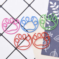 5Pcs Metal Claw Shaped Clips Bookmarks School Office Stationery Paper Clips NT