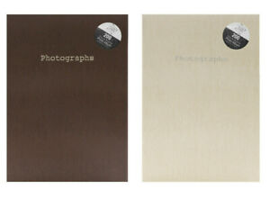 "7""x5""- 200 Pockets Slip-in Snake Skin Print Design Photo Album - Brown + Cream"