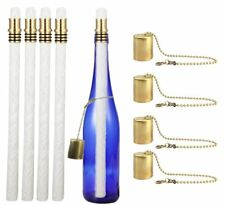 Wine Bottle Tiki Torch Kit 4 Pack by EricX Light, Includes 4 Long Life Tiki