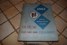 1963 BUICK SPECIAL DELUXE SKYLARK GM 4000 4100 4300 CHASSIS SERVICE MANUAL