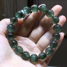10.8mm Natural Green Hair Rutilated Quartz Crystal Bracelet