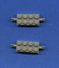 Lego--6249--2 x 4 --Mit Pins--Achse --Grau/OldDkGray-- 2 Stück --