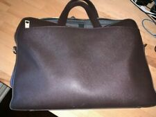 Jack Spade Briefcase Barrow Brown Leather Fits MacBook Pro /15in. devices.