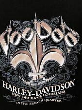 Harley Davidson T Shirt Mens Size 2XL Voo Doo New Orleans French Quarters Black