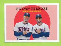 2018 Topps Archives Combos - Jose Berrios & Eddie Rosario (#306)  Twins  SP