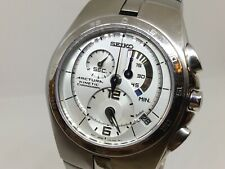 SEIKO ARCTURA KINETIC 7L22-0AA0 Chronograph 44mm 100m Sapphire Crystal SS Watch