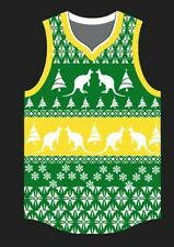 Ugly Christmas Jersey - Basketball Jersey in Green & Yellow