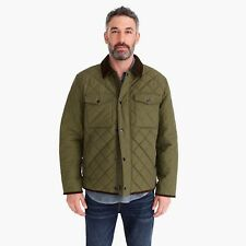 J. Crew Sussex Quilted Jacket With Corduroy Collar Loden Green Size Medium