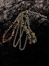 Beautiful Women's Orange Glass Beads Bracelet