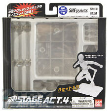 Tamashii Stage Humanoids Clear Action Figure Stand 3-Pack NEW UNOPENED