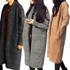 Women Loose Knitted Sweater Batwing Sleeve Cardigan Outwear Tops Oversized E9Q7
