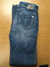 MEK DNM womens light wash jeans size 26x34 long inseam Eugene style