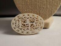 Vintage Celluloid Asian brooch