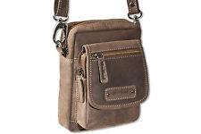 Woodland Bolso bandolera pequeño con muchas compartimentos en marrón oscuro de