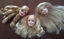 BARBIE DOLL HEADS 3 ONLY - HUDSON BAY; BIRTHDAY WISHES; HOLIDAY 2008 - VERY NICE