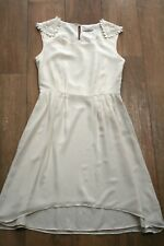 ASOS DARLING skater dress SIZE S 8 10 lace hi low dip hem wedding party vintage