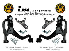 Land Rover Discovery 3 Front Left+Right Upper+lower Suspension Arms +Fittings