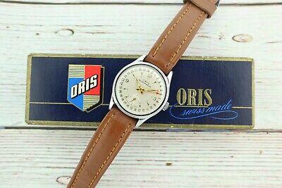 Vintage Oris Date Pointer 7J Manual Wind Men's Watch Caliber 453 + Original Box