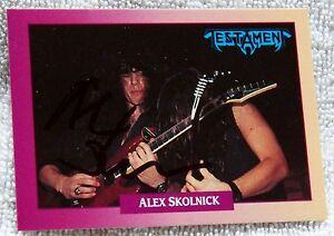 Testament Guitarist Alex Skolnick Signed 1991 Brockum Rockcards Auto Card