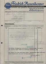 LICHTENBERG-Oberfranken, Rechnung 1933, Seilerwaren-Fabrik F. Rosenberger
