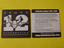 Beer Collectible Coaster ~ Stone Brewing 12th Anniversary Celebration, Festival